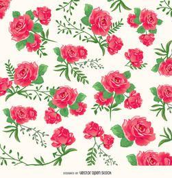 Patrón de fondo de rosas