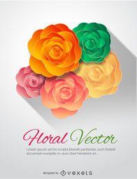 Adorno de flores de colores