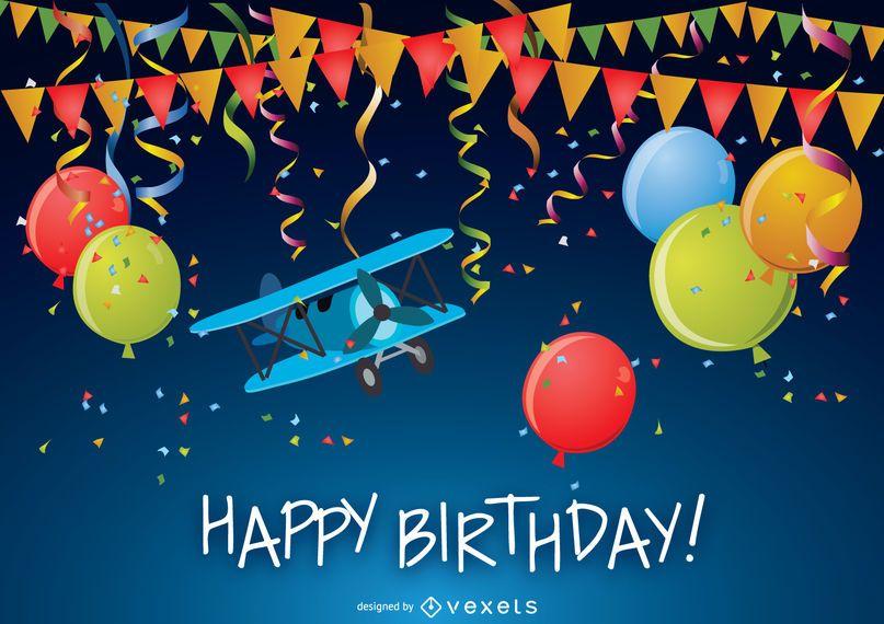 Feliz aniversario cartão engraçado
