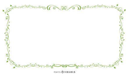 Banner de marco verde remolino