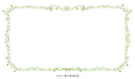Green Swirling Frame Banner