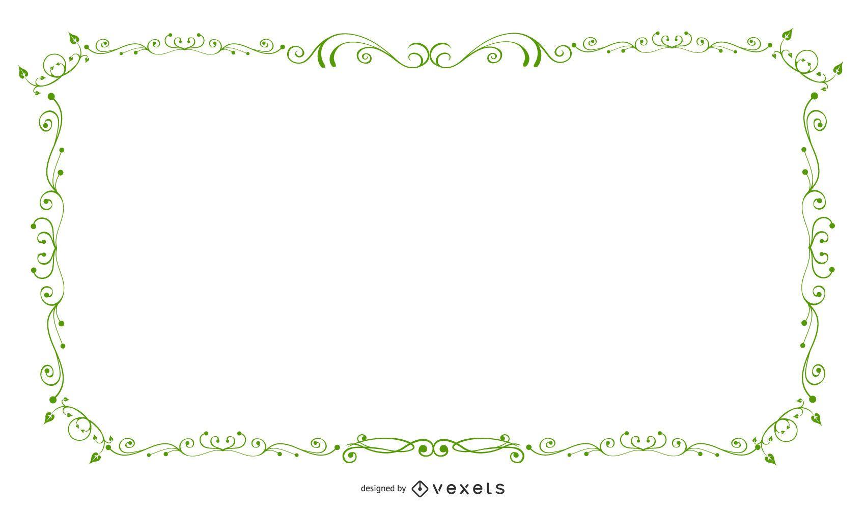 Banner de marco remolino verde