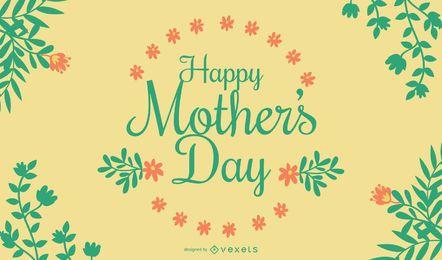 Cartão floral do dia das mães