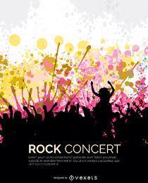Rock-Konzertpublikum