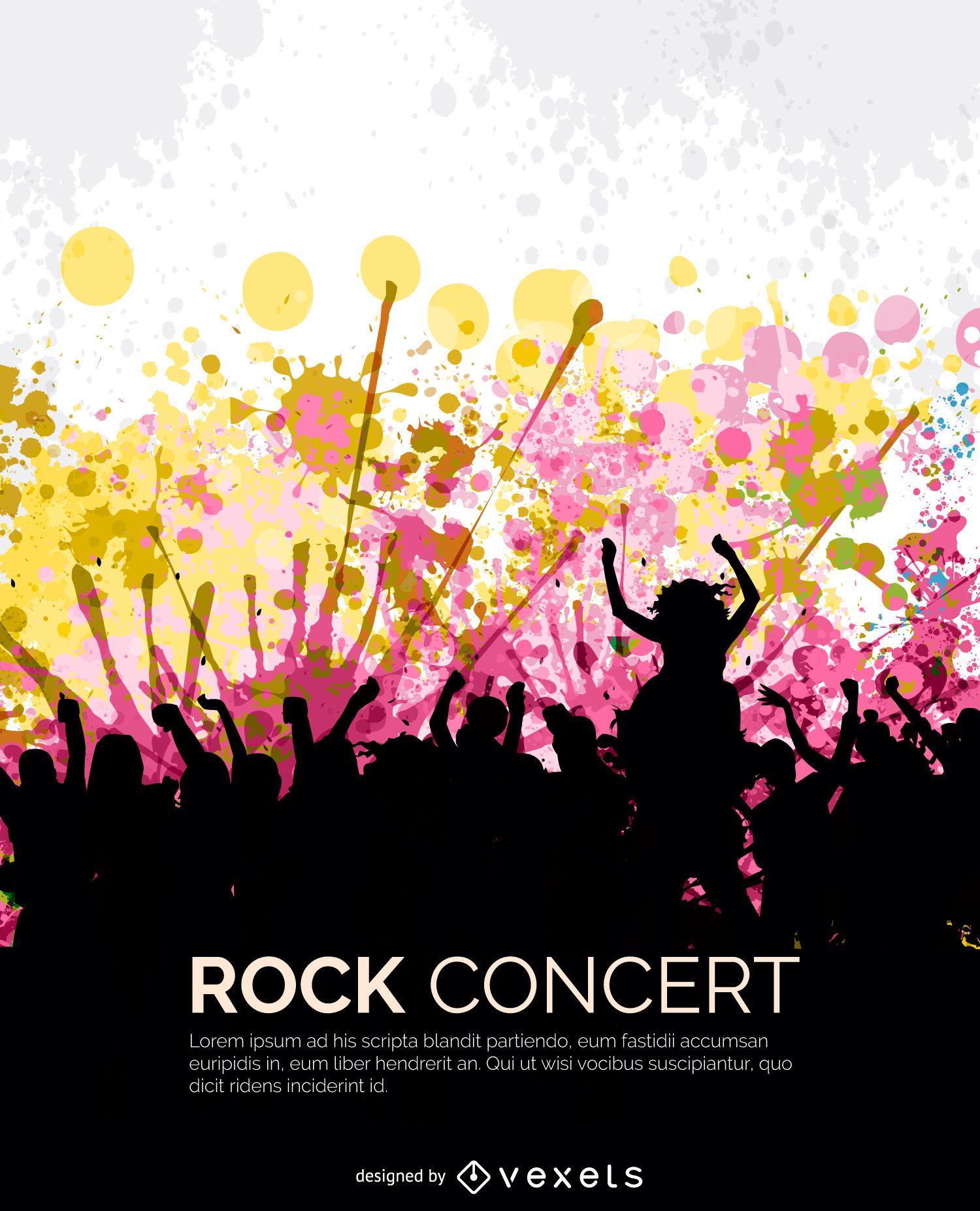 Multidão show de rock
