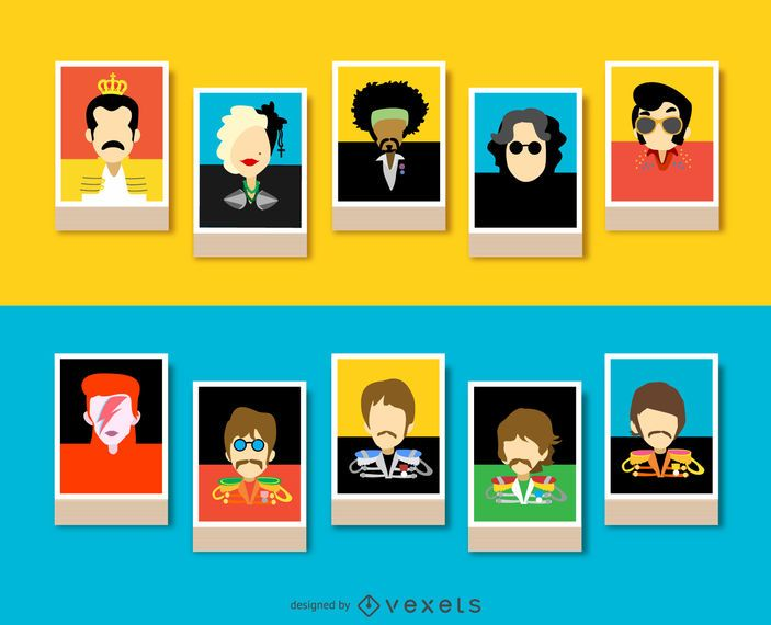 Músicos avatares