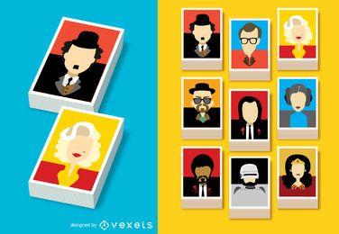 Famosos avatares de personajes de cine.