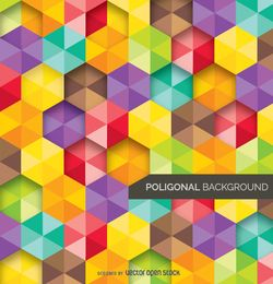Abstract Background polygonal and colorful
