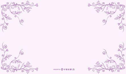Diseño de marco floral ligero