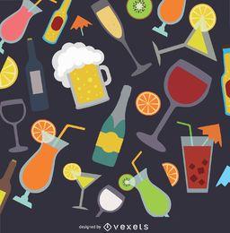 Drinks background