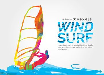 Windsuf buntes Design