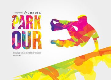 Parkour-Vektor-Design