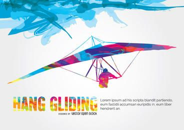 Hang Gliding colorful design