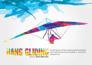Hang Gliding colorful design
