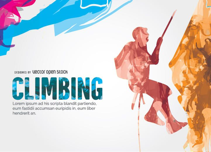 Climbing colorful design