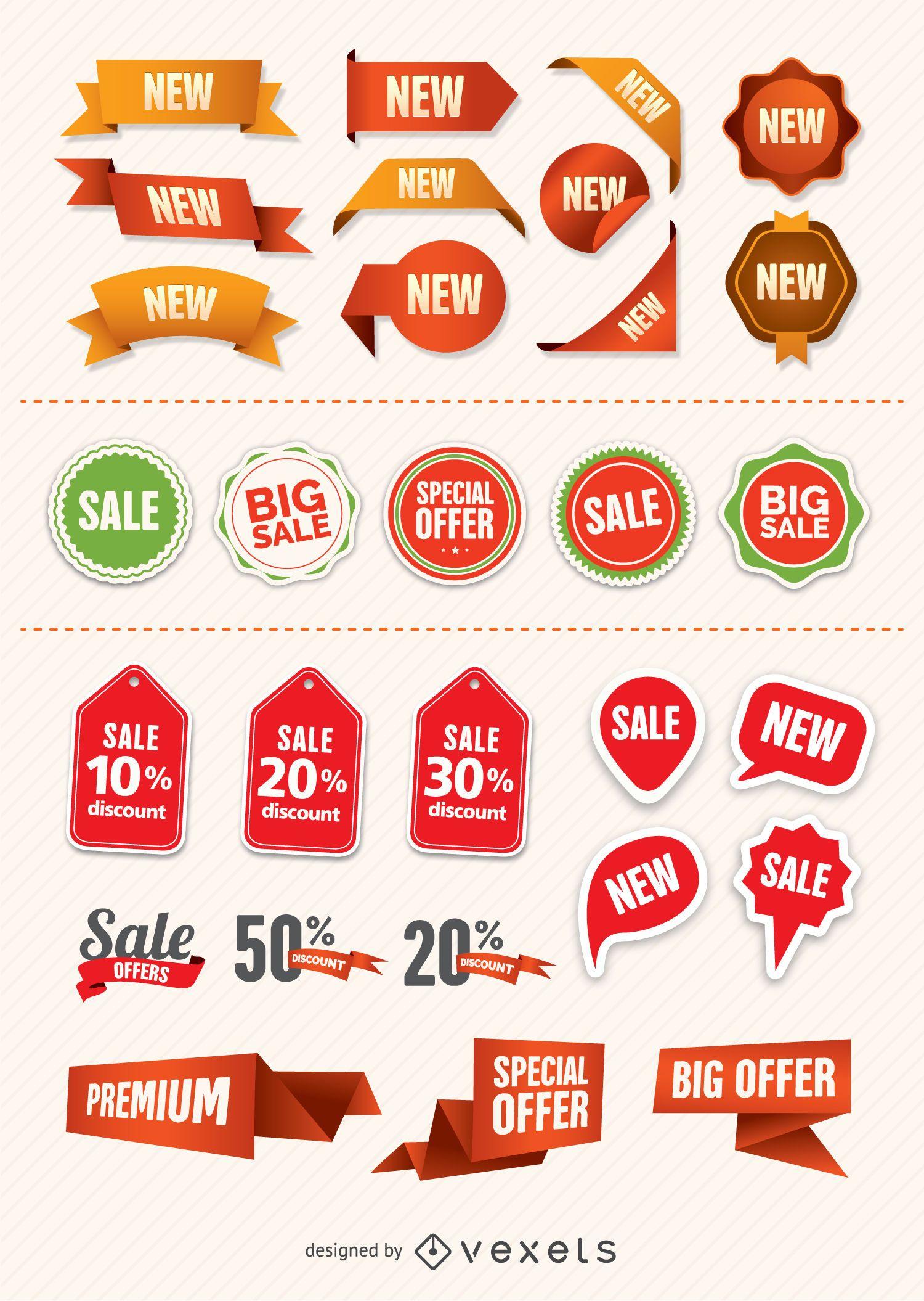 Insignias y etiquetas promocionales
