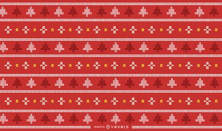 Design tradicional de malha de Natal
