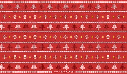 Diseño de punto navideño tradicional