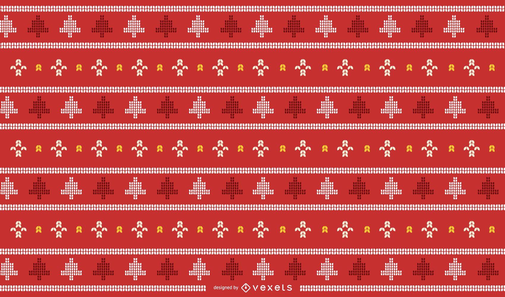 Traditionelles Weihnachtsstrickdesign