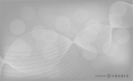 Fondo ondulado gris abstracto
