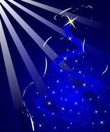 Fondo azul de navidad