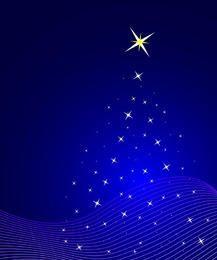 Fondo azul del árbol de navidad