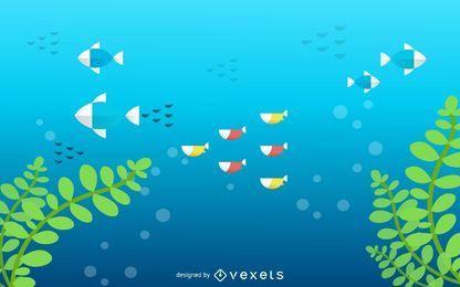 Embaixo da agua