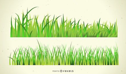 Diseño de la hierba verde
