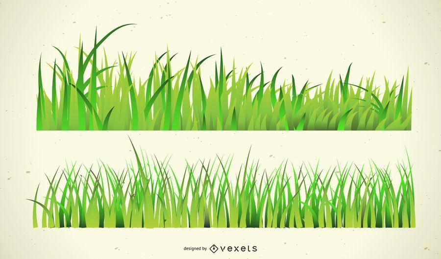 Desenho de grama verde
