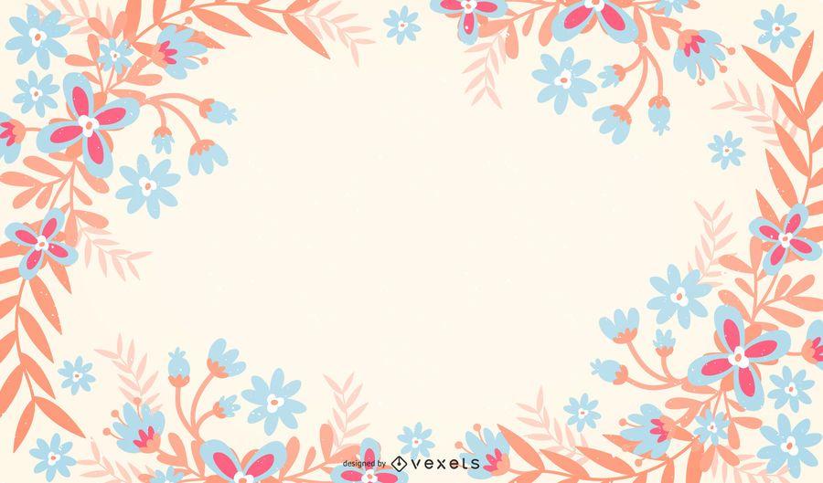 Fondo floral pastel