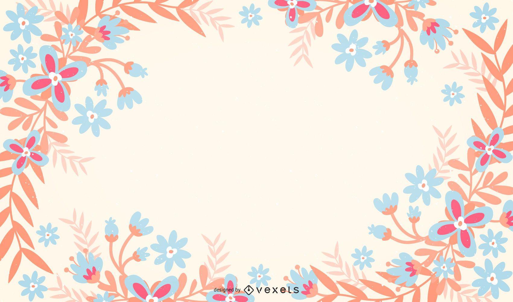 Pastel Floral Background Vector Download