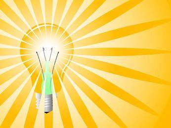 Bombilla de luz amarilla