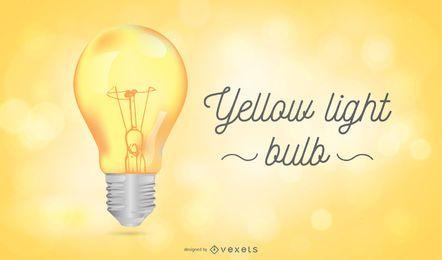 Gelbe Glühbirne