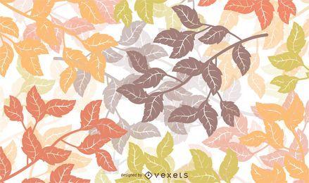 Fundo floral de outono