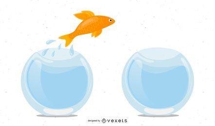 Peixe pulando