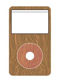 Wooden mp3 player