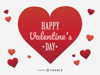Día de San Valentín de fondo