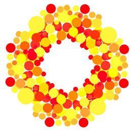 Fundo colorido em vermelho e amarelo