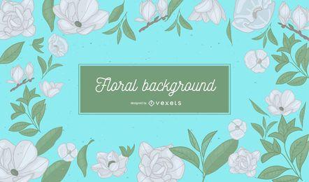 Floral gray design