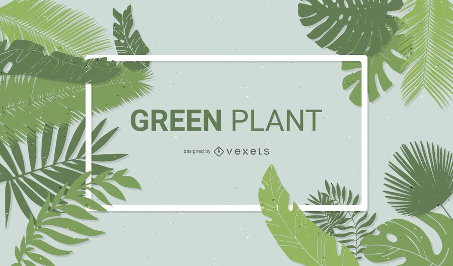 Green Plant Background Design