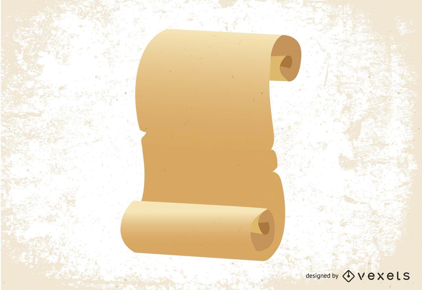Old Paper Scroll Design
