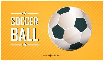 Cartel de balon de futbol