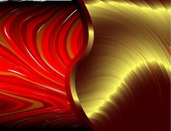 Abstract red waves background