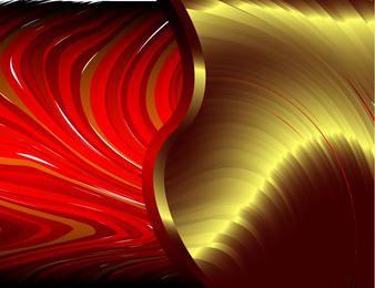 Fondo abstracto de ondas rojas