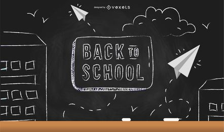 Back to school chalkboard