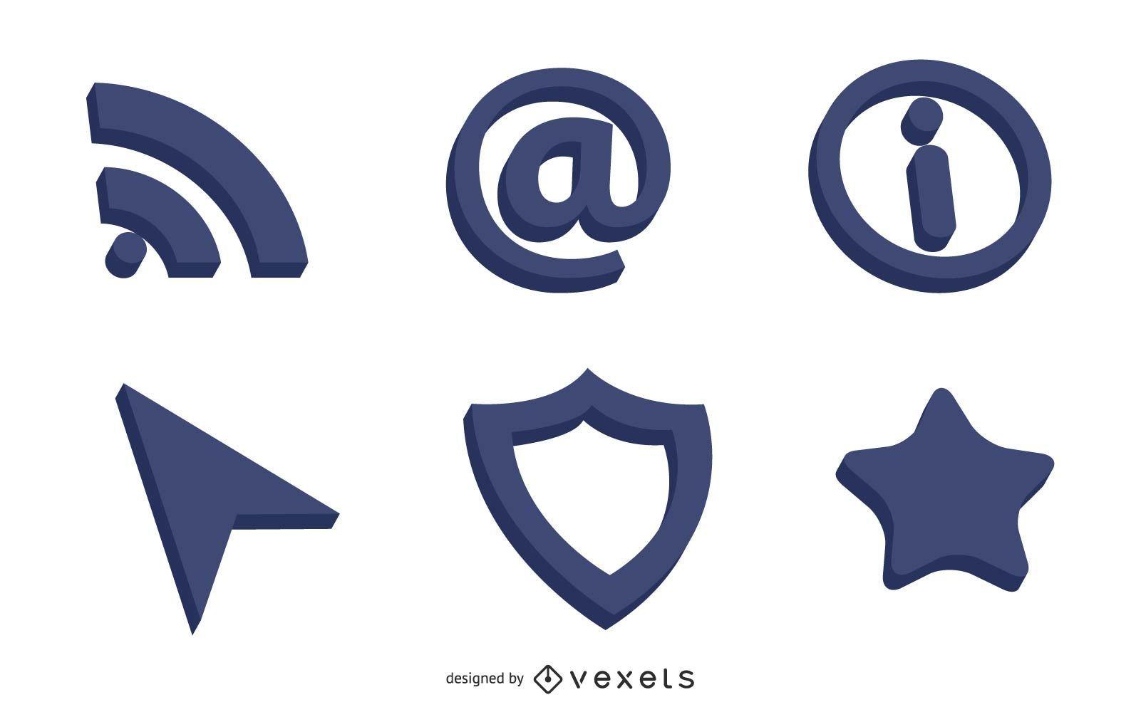 Iconos Web 3D