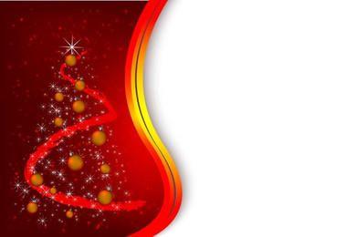Fondo rojo de navidad con arbol