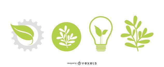 Vector iconos de eco
