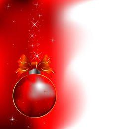 Fondo rojo del ornamento de la Navidad