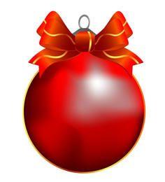 Vetor de bola de Natal